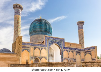 Gur-E Amir Mausoleum, the tomb of the Asian conqueror Tamerlane or Timur, in Samarkand, Uzbekistan