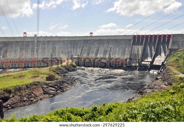Guri Dam (Central Hidroelectrica Simon Bolivar), in southern Venezuela. With its 10.000 MW of installed capacity it is the fourth largest power station in the world.