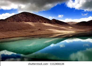 Gurudongmar Lake, North Sikkim, India. Gurudongmar Lake is one of the highest lakes in the world and in India, located at an altitude of 17,800 ft, in the Indian state of Sikkim.