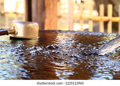 Gushing Water at a Shrine