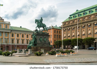 Gustav Adolfs torg square by the opera house in Stockholm