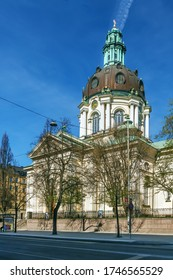 Gustav Vasa church is relatively modern church in new baroque style was consecrated in 1906, Stockholm, Sweden