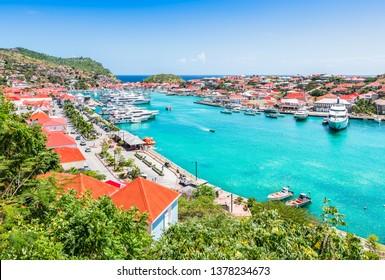 Gustavia harbor, St Barts, Caribbean
