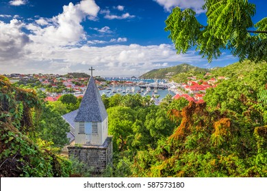 Gustavia, Saint Barthelemy, Caribbean view from the Anglican Church.