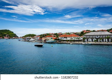 Gustavia, St. Barths / French West Indies - October 5, 2013: Gustavia is the main town and capital of the island of Saint Barthélemy (often abbreviated to Saint-Barth in French.)