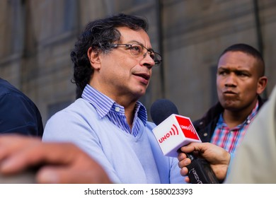 Gustavo Petro, Former presidential candidate and main opposition senator in the Colombian parliament, Strike In Colombia Against the reforms of the government, Bogotá Colombia, December 4 2019