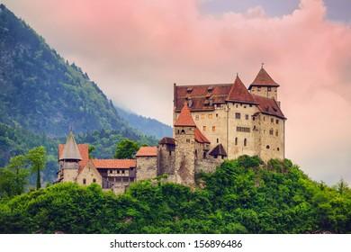 Gutenberg Castle, one of two castles in Principality Liechtenstein