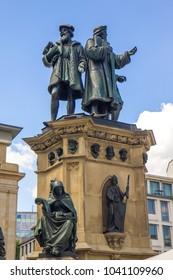 Gutenberg Memorial sculpture in Frankfurt am Main, Germany