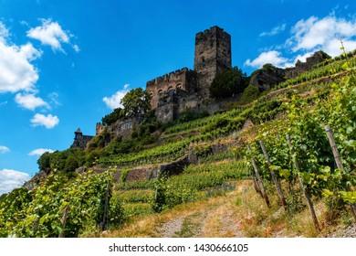 Gutenfels Castle in Kaub is a popular destination.