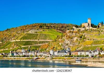 Gutenfels or Caub Castle at Kaub in the Middle Rhine Valley, Germany