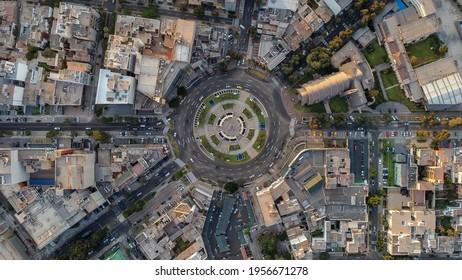 Das Oval von Gutierrez, das aus einem trockenen, sehr überfüllten Ort im Viertel Miraflores in Lima, Peru