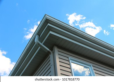 Gutter on house exterior