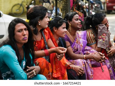 Guwahati, Assam, India. 8 March 2020. Supporters and members of Transgender community participate in a Pride Parade in Guwahati.