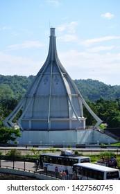 Guwahati,Assam,India - June 09 2019: Beautiful view of  Dr. Bhupen Hazarika Samadhi Khetra Memorial