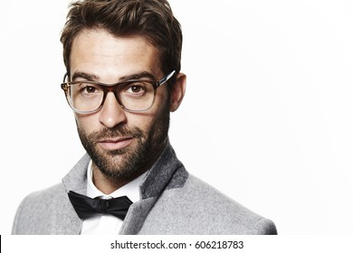 Guy in bow tie and glasses, portrait