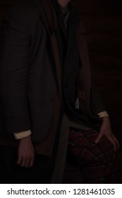 a guy in an expensive suit of natural fabrics