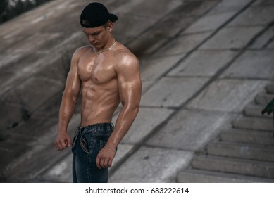 Guy with an ideal body