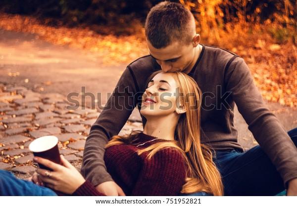 Guy Kissing Girl Gentle Kiss Hot | Royalty-Free Stock Image