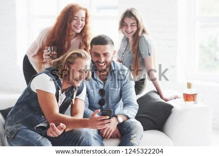 Cheerful time in sofa