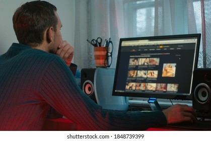 the guy looks at adult content in the browser