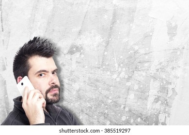 Guy making funny gestures