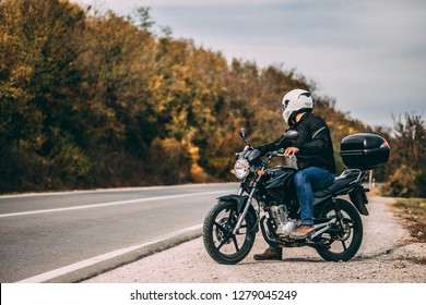 Guy with the motorcycle