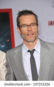 """Guy Pearce at the Los Angeles premiere of his movie """"Iron Man 3"""" at the El Capitan Theatre, Hollywood. April 24, 2013  Los Angeles, CA"""