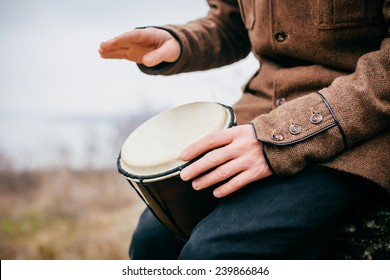 guy playing on the drum