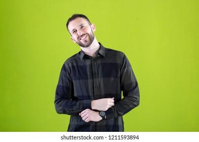 really happy man