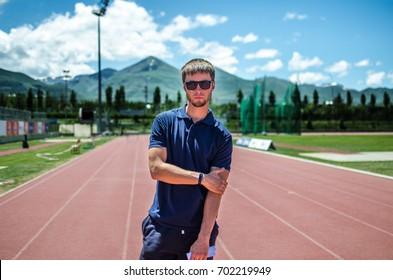 Guy at the stadium