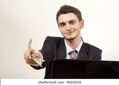 the guy in the suit offers money