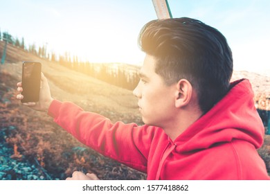 Guy taking selfies picture 20-29 years  Soft focus