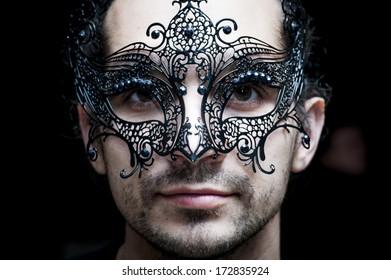 guy in the Venetian mask.