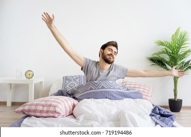 Guy is waking up