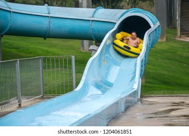 guy in the water park.