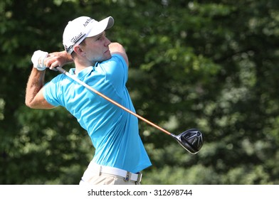 GUYANCOURT , FRANCE, JULY 03, 2015 : Maximillian Kieffer ( ger ) During the third round of the French Open, European golf tour, July 03, 2015 at The golf National, Guyancourt, France.
