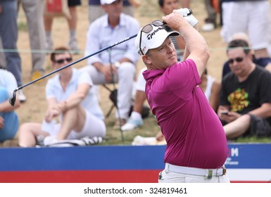 GUYANCOURT , FRANCE, JULY 04, 2015 : Markus Fraser  ( aus ) During the third round of the French Open, European golf tour, July 04, 2015 at The golf National, Guyancourt, France.