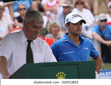 GUYANCOURT , FRANCE, JULY 04, 2015 : Gary Stal ( fra ) During the third round of the French Open, European golf tour, July 04, 2015 at The golf National, Guyancourt, France.