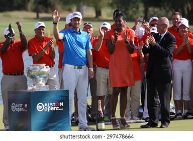 GUYANCOURT, FRANCE, JULY 05, 2015 : Bernd Weisberger (AUT) winner the golf French Open, European Tour, july 05, 2015, Golf National, Guyancourt, France.