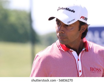 GUYANCOURT, FRANCE - JULY 3 : jyoti Randhawa (IND) at The French Open, European Golf Tour, Paris, july 03, 2010, at the Golf National, Guyancourt, France.