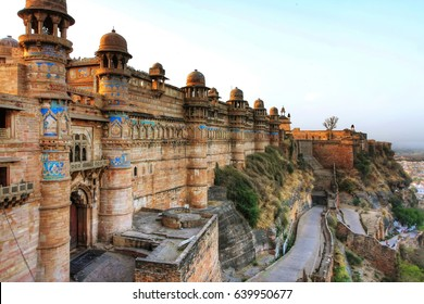 Gwalior Fort was built in the fifteenth century. This great Fort spreads out over an area of three square km and is built at a vantage height of hundred meter above the city.
