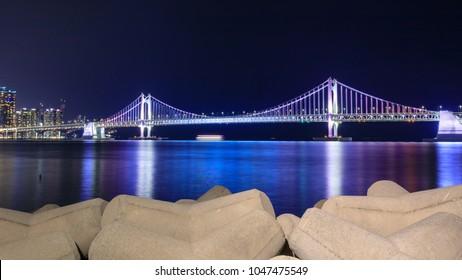 Gwangan Bridge in Busan City, South Korea