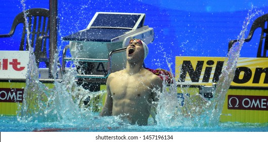 Gwangju, South Korea - Jul 21, 2019. Sun Yang (CHN) became the first man to win the men's 400m freestyle world title four times on the FINA Swimming World Championship.