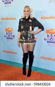 Gwen Stefani at the Nickelodeon's 2017 Kids' Choice Awards held at the USC Galen Center in Los Angeles, USA on March 11, 2017.