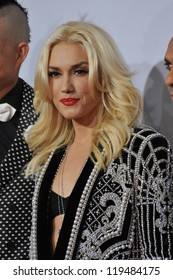 Gwen Stefani of No Doubt at the 40th Anniversary American Music Awards at the Nokia Theatre LA Live. November 18, 2012  Los Angeles, CA Picture: Paul Smith