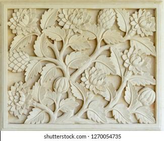 GWK, Bali / Indonesia - 10/30/2018 Wall Art and stone carvings at (GWK) Garuda Wisnu Kencana Cultural Park - Bali