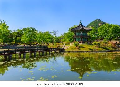 Gyeongbokgung Palace at to day in Seoul, South Korea