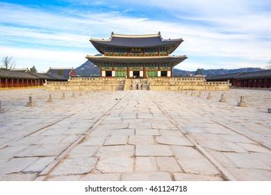 Gyeongbokgung palace landmark of Seoul.