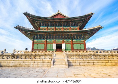 Gyeongbokgung palace landmark of Seoul.