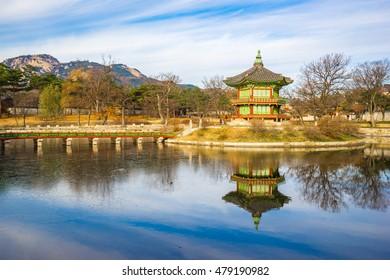 Gyeongbokgung palace in Seoul, Korea.